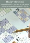 Sudoku-Birthday Card
